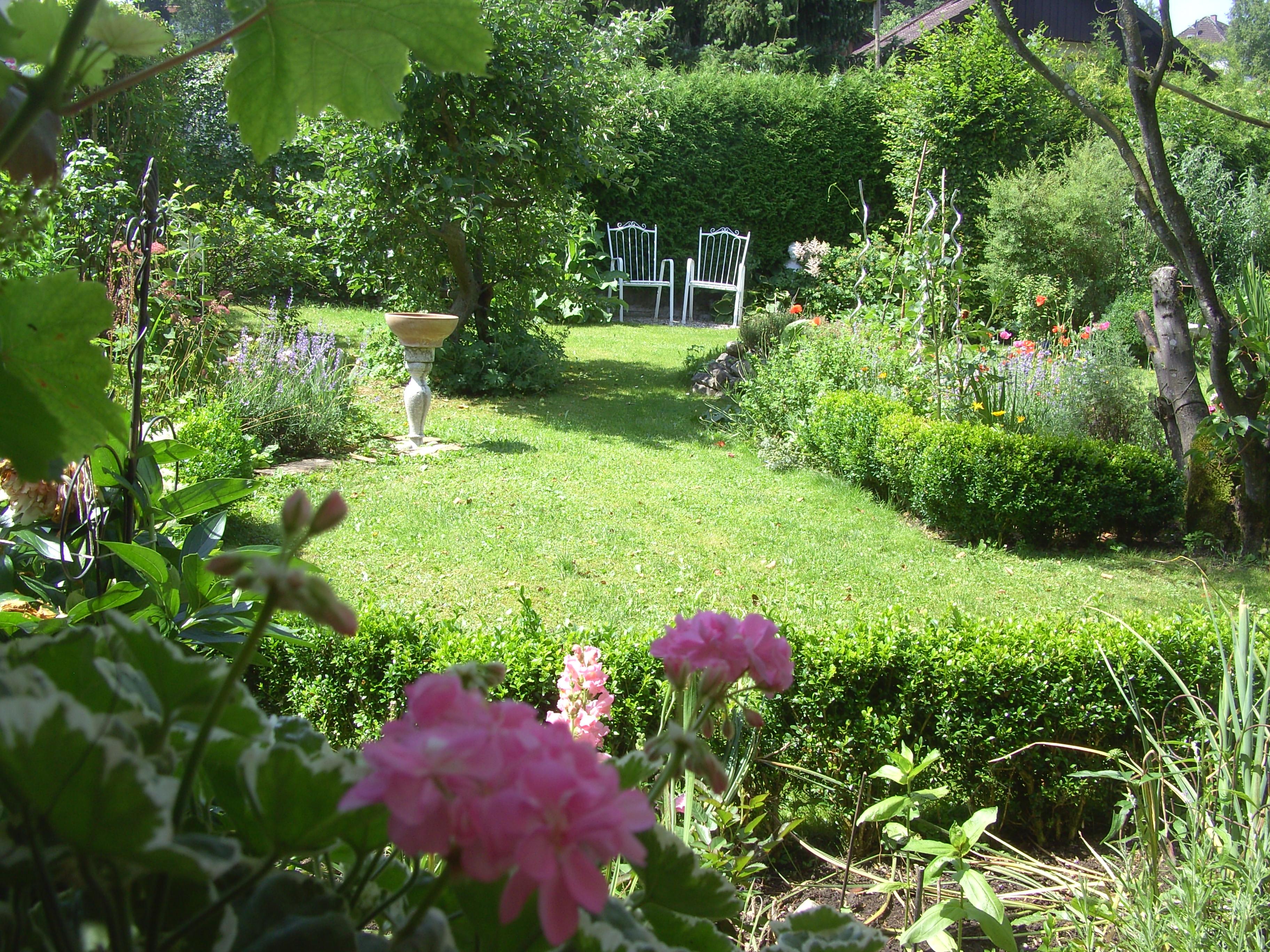 Ein Garten im Sommer